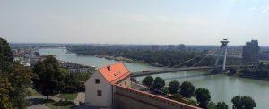 Vue du château sur le Danube, Bratislava