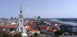 Vue du château sur la ville, Bratislava